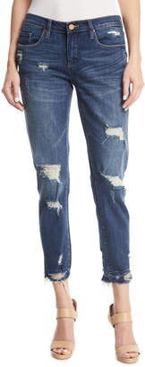 Blank NYC Dress Down Party Distressed Cropped Skinny Jeans