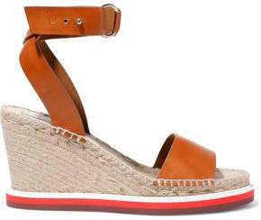 Stella McCartney Faux Leather Espadrille Wedge Sandals