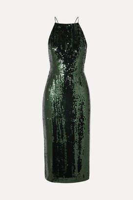 Jason Wu Open-back Sequined Georgette Midi Dress - Green
