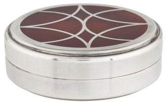 Christofle Silverplate & Chinese Lacquer Trinket Box