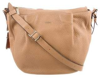 Tod's Grained Leather Messenger Bag