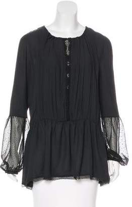 Free People Lace-Accented Long Sleeve Blouse w/ Tags
