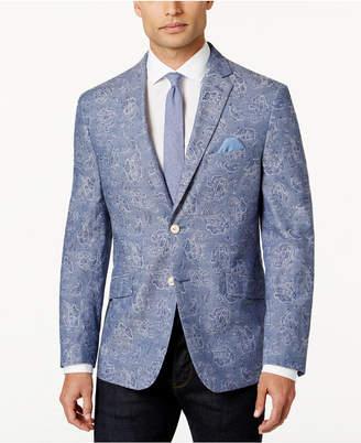 Tallia Men's Slim-Fit Light Blue Paisley Sport Coat $350 thestylecure.com