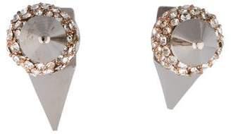 Assad Mounser Pavé Crystal Spike Earrings