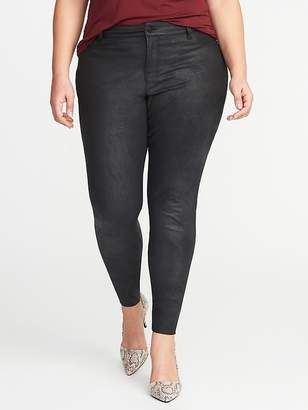 Old Navy High-Rise Secret-Slim Plus-Size Coated Rockstar Jeans