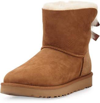 UGG Mini Bailey Bow II Shearling Fur Boot $150 thestylecure.com