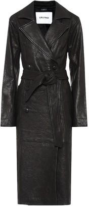GRLFRND Lori leather trench coat