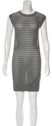 AllSaints Rosyn Sleeveless Open Knit Mini Dress