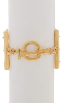 Rivka Friedman Faceted Rose Quartz & 18K Gold Clad Satin Pebble 3-Row Bracelet