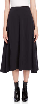 Jil Sander Dark Grey Wool Midi Skirt