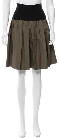 Miu MiuMiu Miu Pleated Knee-Length Skirt