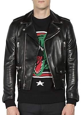 Saint Laurent Men's Leather Moto Jacket