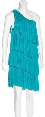 Robert Rodriguez One-Shoulder Tiered Dress w/ Tags