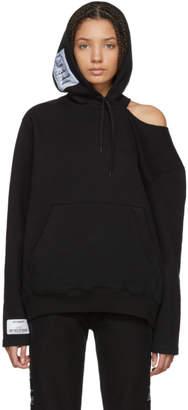 Vetements Black Open Shoulder Hoodie