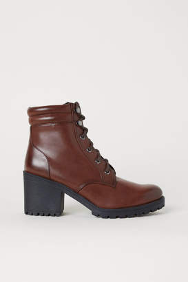 H&M Chunky-sole Boots - Brown