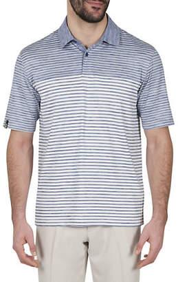 Haggar Short-Sleeve Heather Stripe Polo