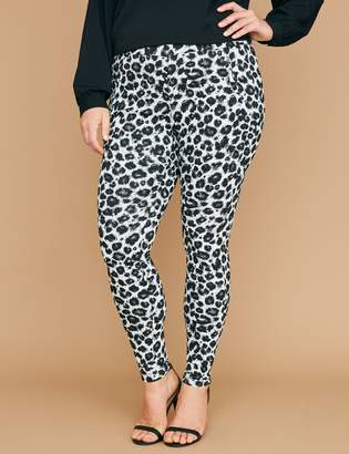 Lane Bryant Allie Smart Stretch Skinny Pant - Pull-On Leopard