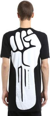 11 By Boris Bidjan Saberi Fist Printed Cotton Jersey T-Shirt