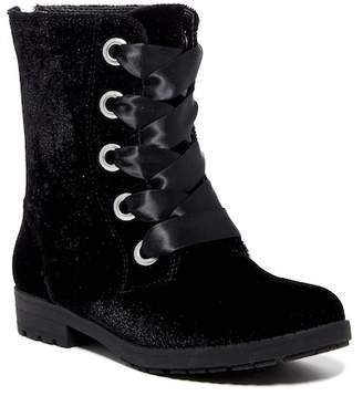 Nine West Melinah Velvet Lace-Up Boot (Little Kid & Big Kid)