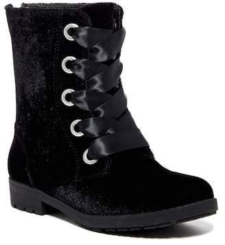 Nine West Melinah Velvet Lace-Up Boot (Little Kid & Big Kid)