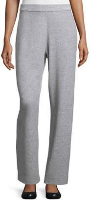 Joan Vass Velour Full-Length Jog Pants, Petite