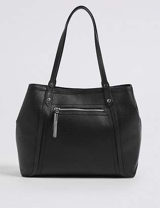 Marks and Spencer Faux Leather Colour Block Tote Bag