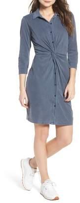 Stateside Twist Waist Brushed Jersey Dress