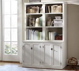 Pottery Barn Logan Bookcase with Cabinet Doors