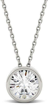 Charles & Colvard Moissanite Bezel Solitaire Pendant (1 ct. t.w. Diamond Equivalent) in 14k White or Yellow Gold