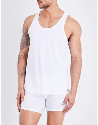 Calvin Klein Pack of two stretch-cotton tank tops $30.50 thestylecure.com