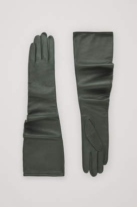 Cos CURVED LONG LEATHER GLOVES