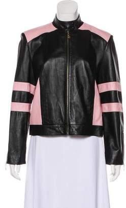 St. John Sport Structured Leather Jacket