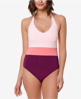 Bleu by Rod Beattie Colorblocked One-Piece Swimsuit Women Swimsuit