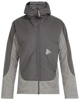 And Wander - Zip Through Hooded Fleece Jacket - Mens - Dark Grey