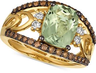 LeVian Le Vian Chocolatier Prasiolite (2-5/8 ct. t.w.) & Diamond (5/8 ct. t.w.) Ring in 14k Gold