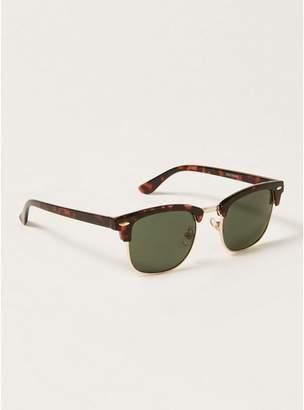 Topman Mens Brown Tortoiseshell Gold Framed Sunglasses