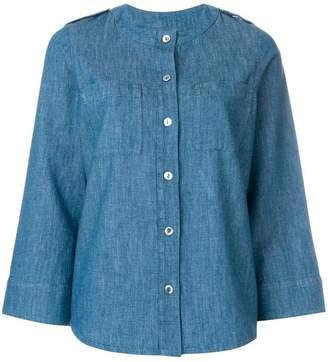 A.P.C. buttoned denim blouse