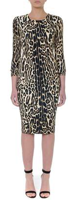 Burberry Camel Animal Viscose Dress