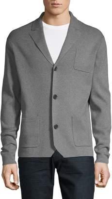 Black Brown 1826 Button-Front Cotton-Blend Cardigan