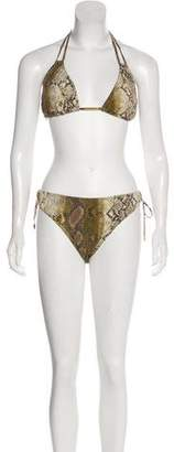 Michael Kors Printed Two-Piece Swimsuit w/ Tags