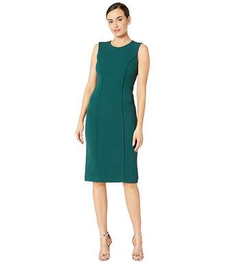 Maggy London Metro Knit Solid Sheath Dress