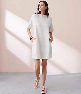 Lou & Grey Garment Dye Hoodie Dress