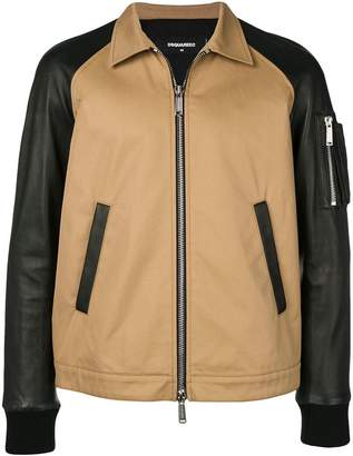 DSQUARED2 contrast shirt jacket