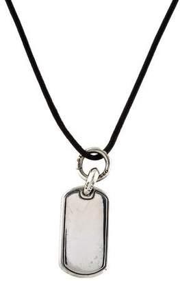 David Yurman Dog Tag Pendant Necklace