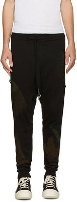 11 by Boris Bidjan Saberi Black Embroidered Drop Crotch Lounge Pants $545 thestylecure.com