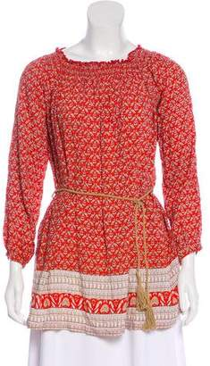 Faithfull The Brand Off-The-Shoulder Printed Tunic w/ Tags