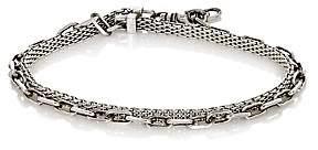 Title of Work Men's Anchor Double-Wrap Bracelet - Silver