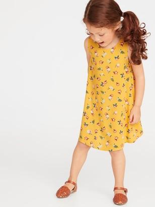 Old Navy Printed Sleeveless Swing Dress for Toddler Girls