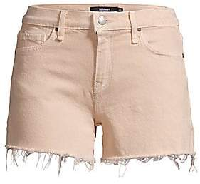 Hudson Jeans Women's Gemma Mid-Rise Frayed Hem Denim Shorts