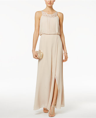Jessica Howard Braided-Neck Blouson Gown $139 thestylecure.com